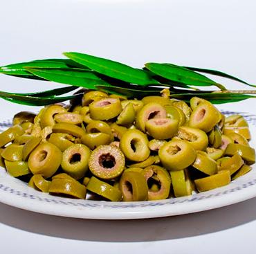 Aceitunas Verdes en Rodaja