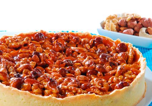 tarta-de-frutos-secos-y-miel